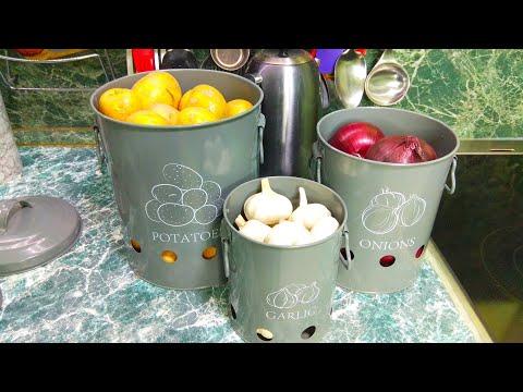 Набор контейнеров для хранения картофеля лука и чеснока