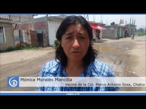 Gestiones de Antorcha en la comunidad Marco Antonio Sosa en Chalco