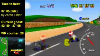 MK64 - former world record on Luigi Raceway - 37''62 (NTSC: 31''29)