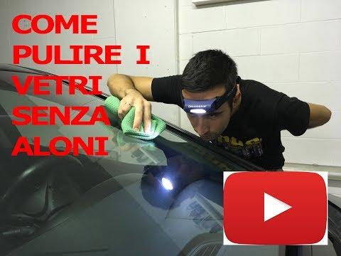 Come pulire i vetri dell'auto SENZA aloni