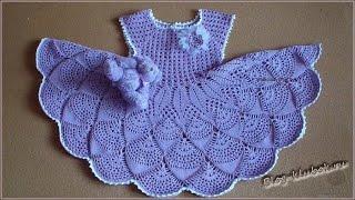 Crochet Patterns| For Free |vintage Crochet Baby Dress Pattern| 16