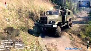 รถทหาร ขึ้นภูเขาสูง บุกป่า ลุยน้ำ ลุยโคลน Military vehicles on a high mountain road. (Realistic)