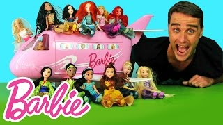 Barbie & Disney Princess Airplane Party ! || Toy Reviews || Konas2002
