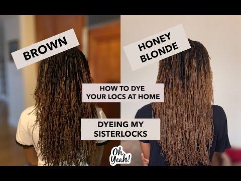Dyeing My Sisterlocks   From Brown to Honey Blonde