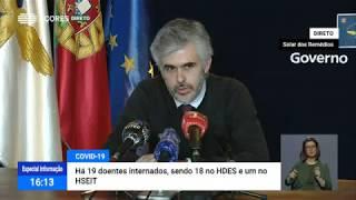 09/05: Ponto de Situação da Autoridade de Saúde Regional sobre o Coronavírus nos Açores