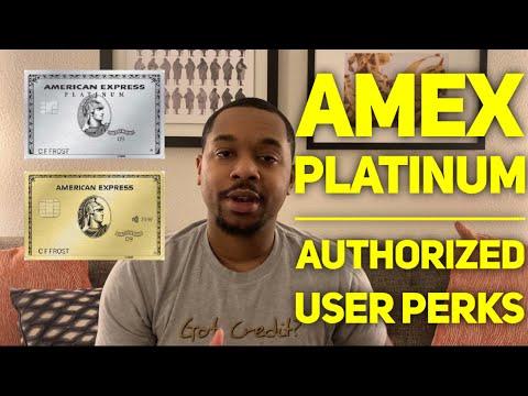 Amex Platinum Authorized User Benefits