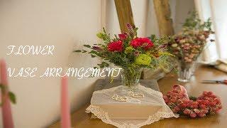 [꽃꽂이_플라워레슨] 집에놀고있는 유리컵으로 ?!! 멋진 화병을 만들어 보세요! 꽃은 어렵지 않아요, 화병꽂이,how To Make Flower Vase Arrangement