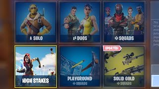 NEW FORTNITE UPDATE OUT NOW! NEW HIGH STAKES GAMEMODE IN FORTNITE! (FORTNITE BATTLE ROYALE)