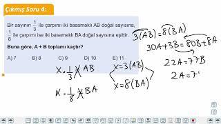 Eğitim Vadisi TYT Matematik 6.Föy Sayı Basamakları Konu Anlatım Videoları