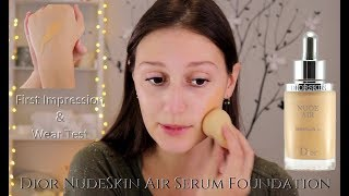 Dior Nude Air Serum Foundation First Impression, review, & Wear Test | kristenlynnsloves