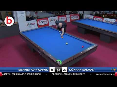 MEHMET CAN ÇAPAK & GÖKHAN SALMAN Bilardo Maçı - SAKARYA ÖZPAŞ CUP 2019-FİNAL 1/16