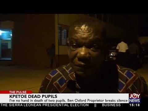 Kpetoe Dead Pupils - The Pulse on JoyNews (5-4-18)