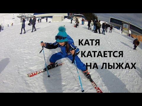 #Катя и #лыжи ! День 2. #Горы в Румынии, Синая. Katy is skiing!  Mountains in Romania, Sinai.