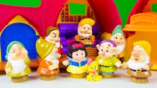 Fisher-Price Little People Disney Princess Snow White's Cottage Snow White Dwarf Toys