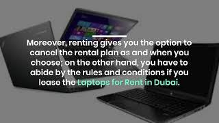 Why to Choose Laptop Rental in Dubai?