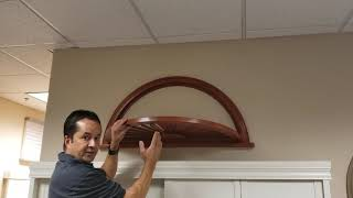 How to Measure for a Sunburst Arched Shutter