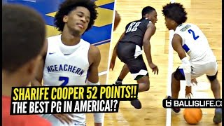Sharife Cooper SHOCKS EVERYONE & Drops 52 Points!!! DON'T TEST Sharife!!