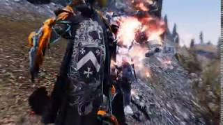 Skyrim modded bandit fight (ASIS & OBIS)