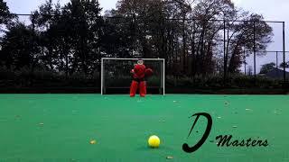 D Masters Goalie   Single Leg Block Sliding