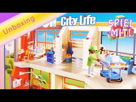 Playmobil Krankenhaus deutsch - Playmobil Kinderklinik Unboxing