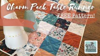 Charm Pack Table Runner FREE Pattern! Fast & Beginner-Friendly Quilt Tutorial