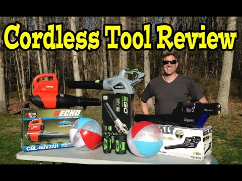 EGO 56volt ECHO 58v Kobolt 80v Cordless Leaf Blower- Comparison, Review, Demo Video