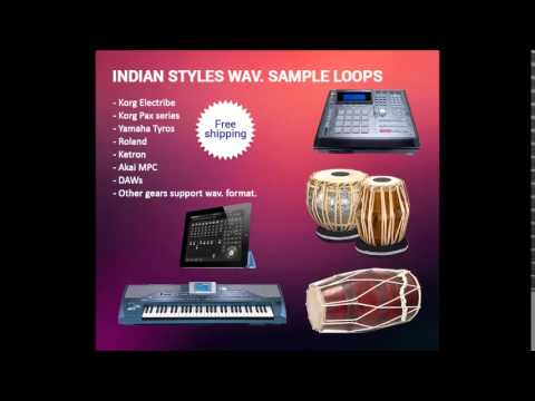 Indian style tabla loops for Pa1x, Pa2x, Pa3x, Tyros, Roland, Ketron