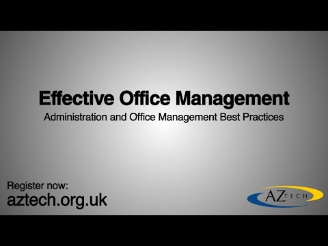 Effective Office Management - YouTube