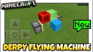 REDSTONE FLYING MACHINE IN minecraft pe - Video hài mới full