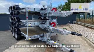 REMORQUE PORTE ENGIN 3T5 ECIM NEUVE EN STOCK PERMANENT