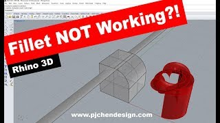 """Rhino 3D CAD Technique #9:  Why Does """"fillet"""" Not Working ? (有中文字幕)"""