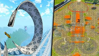 The Craziest Map In BeamNG Drive - Large Stunts & Monster Truck Donger Arena - BeamNG Drive Gameplay