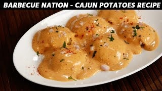 Cajun Spiced Potatoes - Barbeque Nation Style Recipe - CookingShooking