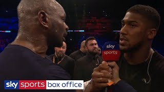 DILLIAN WHYTE & ANTHONY JOSHUA FACE OFF AFTER DEREK CHISORA KNOCK OUT!