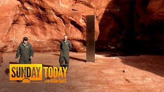10-Foot Mysterious Monolith Vanishes From Desert In Utah | Sunday TODAY