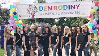 Czech Miss 2017 Finalists together actively supported Family Day