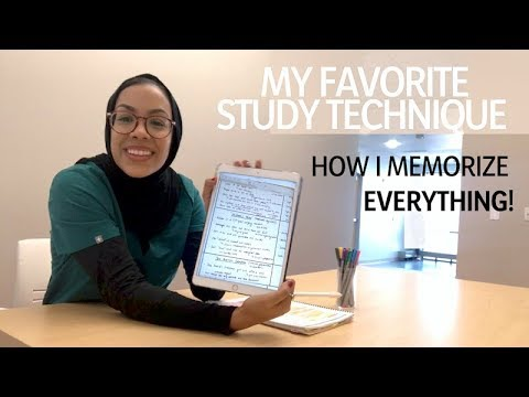 HOW I MEMORIZE EVERYTHING! My favorite study technique