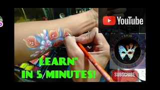 One Stroke Flower , Arm Paint Tutorial