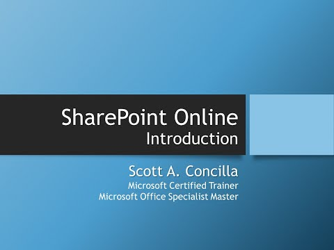 2020-04-08 - SharePoint Online - Introduction