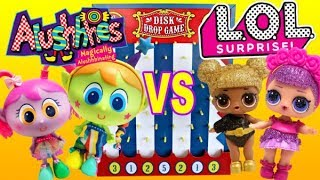 LOL Surprise Dolls and Distroller World Alushhhes Play Disk Drop Game with Pranks vs Prizes!