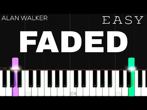 Alan Walker - Faded   EASY Piano Tutorial