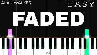 Alan Walker - Faded | EASY Piano Tutorial