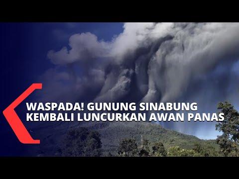 waspada gunung sinabung kembali mengeluarkan awan panas hingga jarak meter