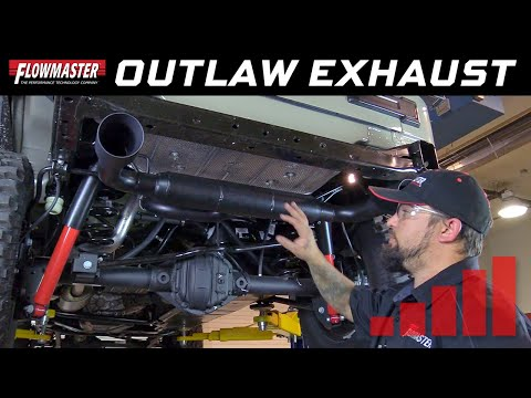 2012-18 Jeep Wrangler JK, 3.6L - Install: Outlaw Axle-back Exhaust System 817752