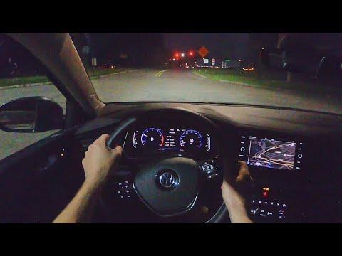 2021 Volkswagen Jetta SEL R-Line - POV Night Drive (Binaural Audio)