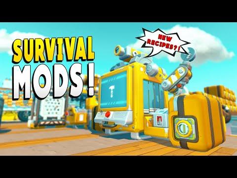 NEW Survival Mods Makes Surviving a Little Easier - Scrap Mechanic Survival EP 21