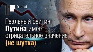 Реальный рейтинг Путина имеет отрицательное значение (не шутка)