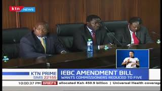 IEBC Chair Wafula Chebukati reccomends the numbers of  commissioners to be reduced to 5