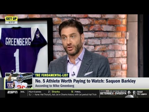 """ESPN GET UP   Mike Greenberg """"evaluated"""" Top 5 Athlete Worth paying to Watch"""