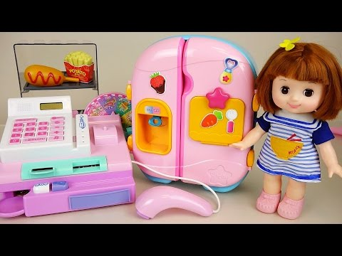 Baby Doll cash register mart toy and Refrigerator toys